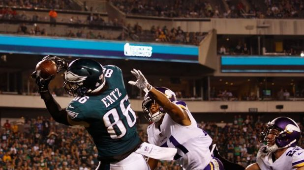 Tight end Zach Ertz is one of Philadelphia's offensive leaders so far this year
