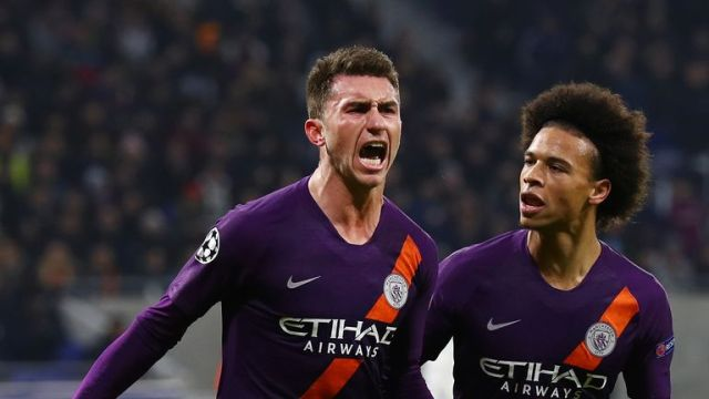 Aymeric Laporte headed Manchester City level in the 2-2 draw