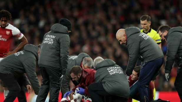 Welbeck required oxygen following the incident