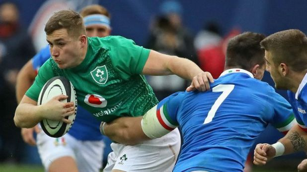 Jordan Larmour starred for Ireland against Italy, notching a hat-trick