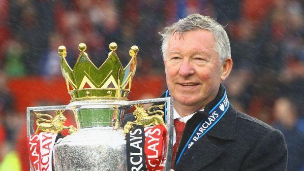 Ferguson won 13 Premier League titles with Manchester United