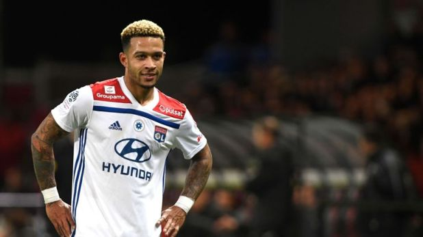 Memphis Depay was the star in Lyon's win over Guingamp