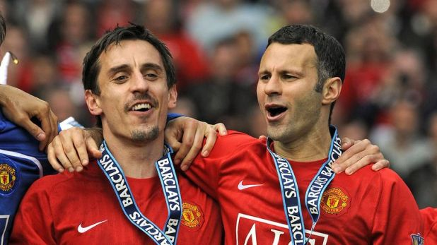 Neville and Giggs enjoyed great success at United under Sir Alex Ferguson