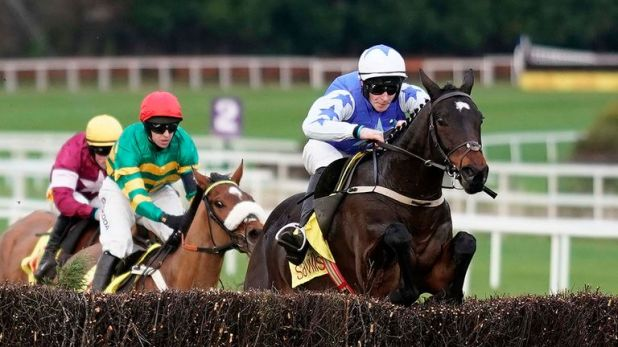 David Mullins riding Kemboy clear to win the Savills Chase at Leopardstown