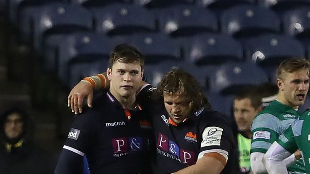 Chris Dean (left) was also among the try scorers for the home side