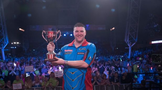 Gurney showed he is capable of beating the best in major events. Via Lawrence Lustig/PDC