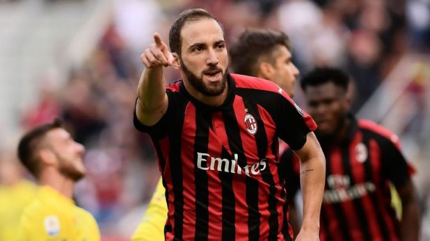 Gonzalo Higuain has been linked with a move to Maurizio Sarri's Chelsea