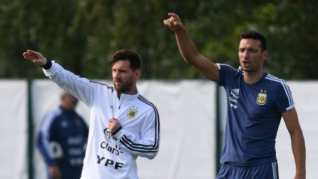 Argentina coach Lionel Scaloni hopeful Lionel Messi will return to national  team before Copa America   Football News   Sky Sports