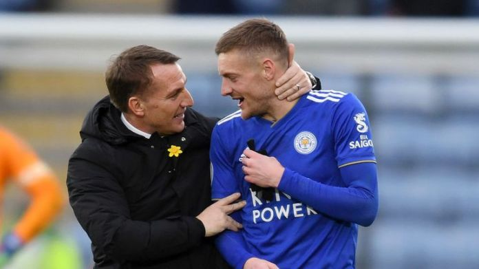 Brendan Rodgers hopes Jamie Vardy will dismiss the Foxes for victory on Bournemouth's bogey side this weekend
