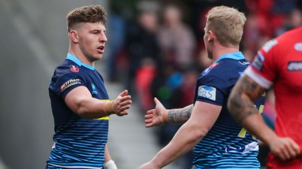 George Williams notched a hat-trick as Wigan picked up a vital victory at the AJ Bell Stadium