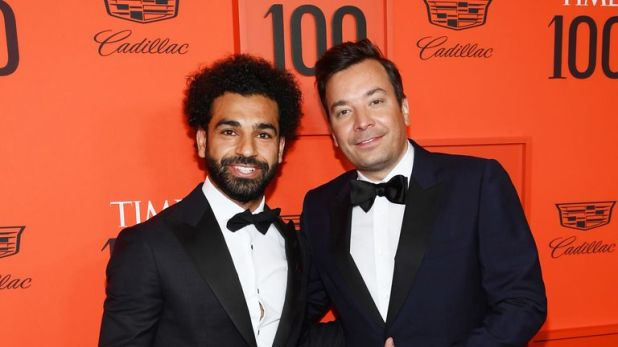 Salah with Jimmy Fallon