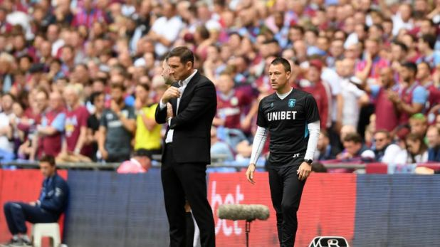 Former team-mates Frank Lampard and John Terry were in opposing dugouts for the Championship play-off final