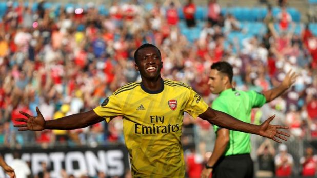 Eddie Nketiah has three goals in two games in the International Champions Cup