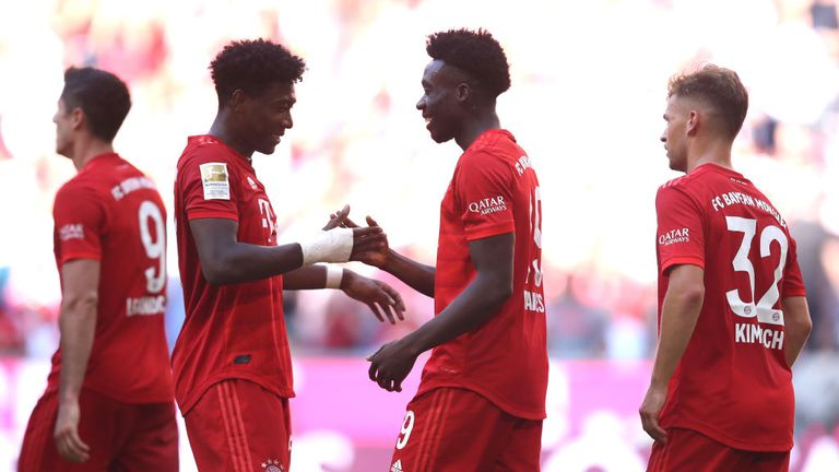 Alphonso Davies scored his second league goal for Bayern Munich