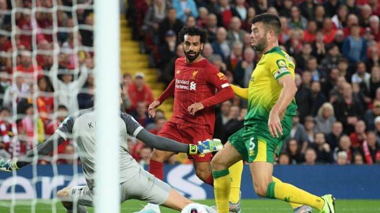 Mohamed Salah scores Liverpool's second goal