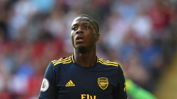 Nicolas Pepe threatened in the first half, but struggled in the second