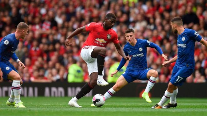 Paul Pogba registered two assists in United's opening-day win over Chelsea