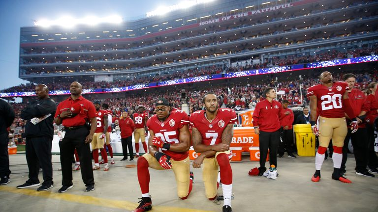 Safety Eric Reid knelt alongside Kaepernick when the pair were team-mates