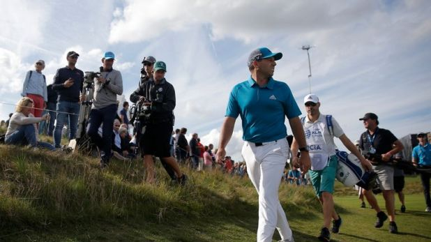 Sergio Garcia is two off the halfway lead at the KLM Open
