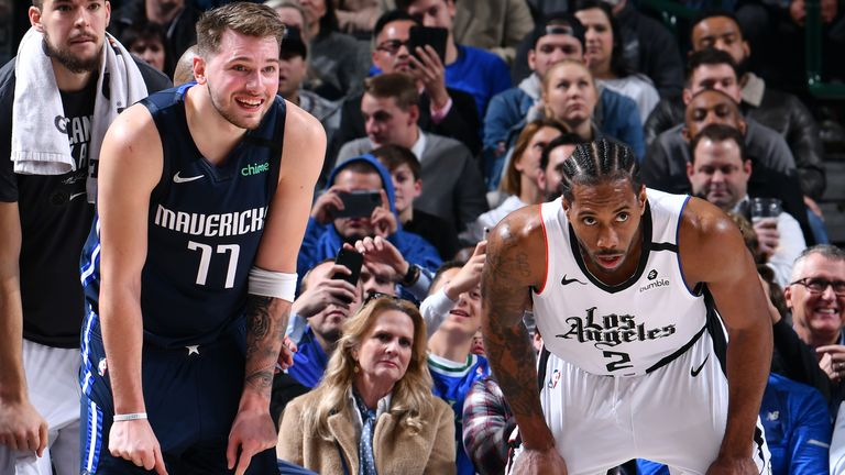 Kawhi Leonard and Luka Doncic both drop 36 points as LA Clippers hold off  Dallas Mavericks | NBA News | Sky Sports
