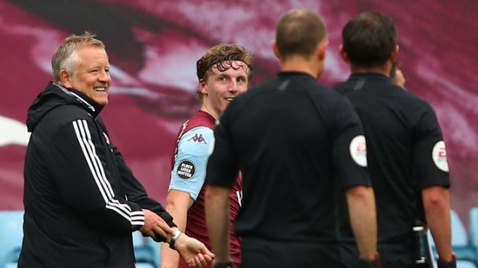 Chris Wilder has outlined his frustrations at half-time and full-time at Villa Park