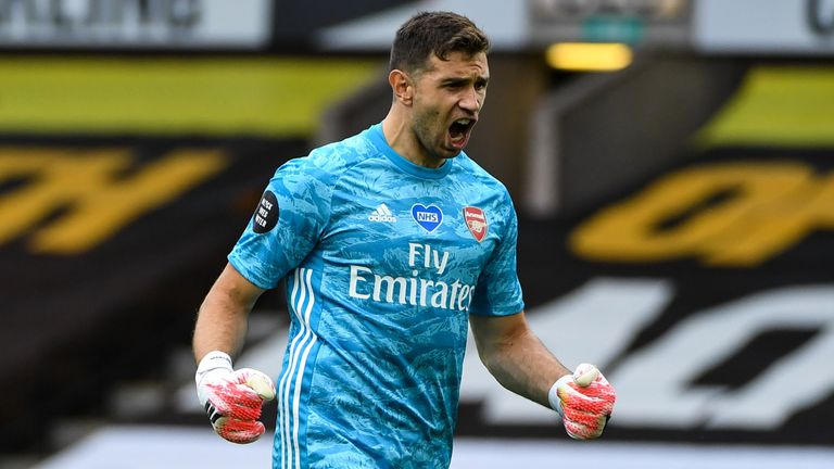 Emi Martinez made 39 first-team appearances for Arsenal, spending loan spells with six clubs – Oxford United, Sheffield Wednesday, Rotherham, Wolves, Getafe and Reading