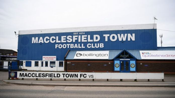 General view of the Moss Rose Ground, home of Macclesfield Town