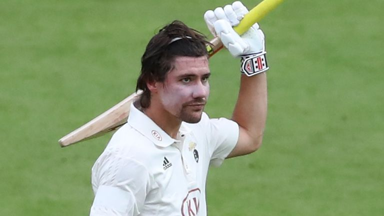 Rory Burns scored 103 for Surrey against Sussex in the Bob Willis Trophy