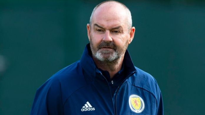 Scotland manager Steve Clarke during a Scotland training session at the Oriam, on September 03, 2020, in Edinburgh, Scotland