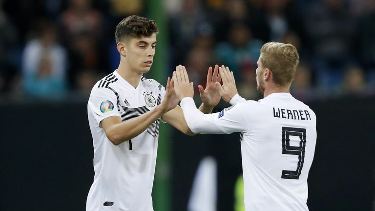 Germany internationals Kai Havertz and Timo Werner could make their Chelsea debuts on Monday