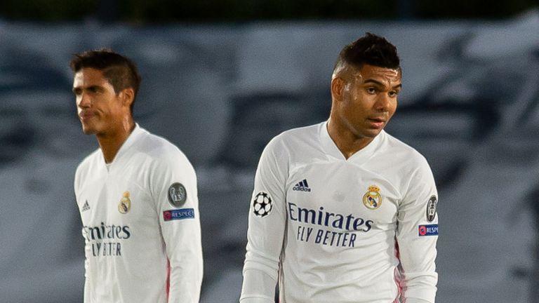 El Real Madrid perdía 3-0 en el descanso
