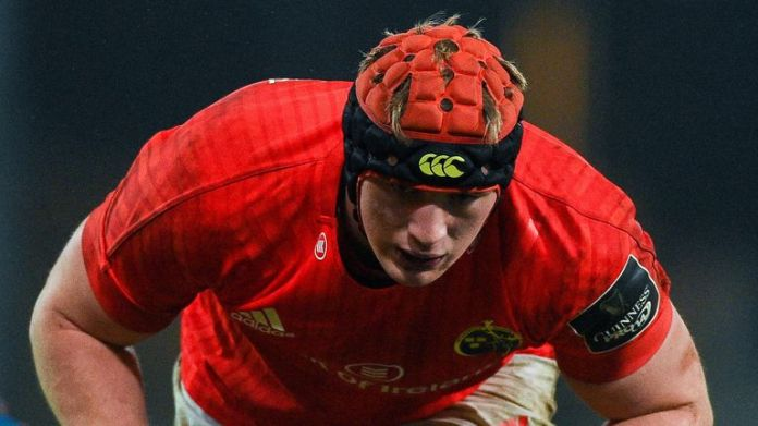 Gavin Coombes was the hat-trick hero for Munster