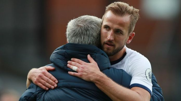 Harry Kane and Jose Mourinho