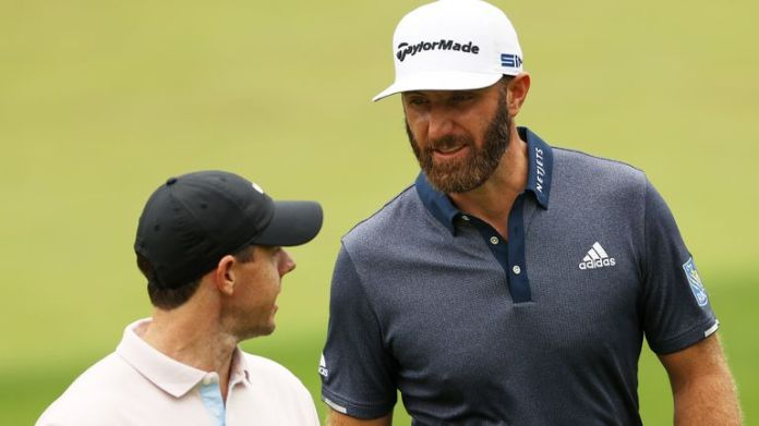 McIlroy joined Dustin Johnson for a practice round on Tuesday and will play alongside the world No 1 in the first two rounds
