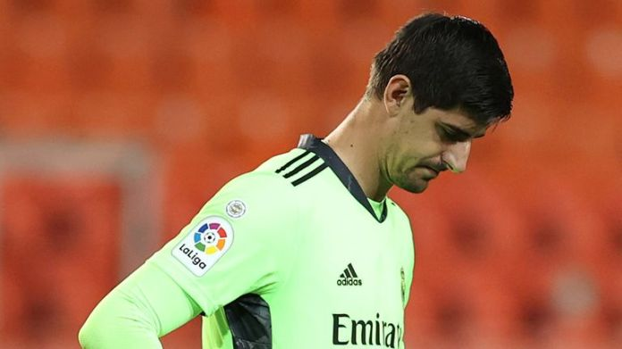 Thibaut Courtois was left exposed by his Madrid defence against Valencia