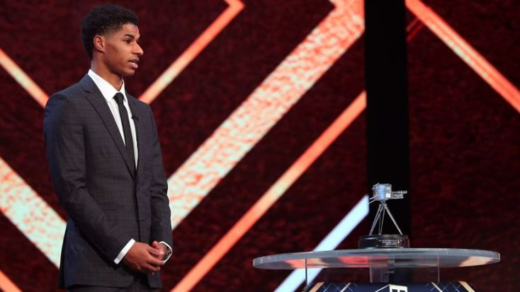 Marcus Rashford was honoured with a Panel Special Award