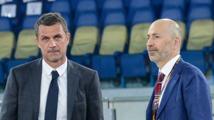 AC Milan CEO Ivan Gazidis and Paolo Maldini technical director of AC Milan