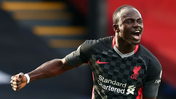 Sadio Mane celebrates doubling Liverpool's lead at Selhurst Park