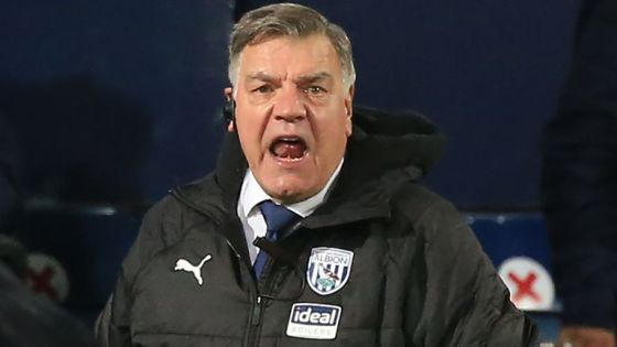 Sam Allardyce, manager of West Bromwich Albion reacts during a Premier League match between West Bromwich Albion and Aston Villa at The Hawthorns on December 20, 2020 in West Bromwich, England.  The match will be played without fans, behind closed doors as a precaution of Covid-19.  (Photo by Lindsey Parnaby - Pool / Getty Images)