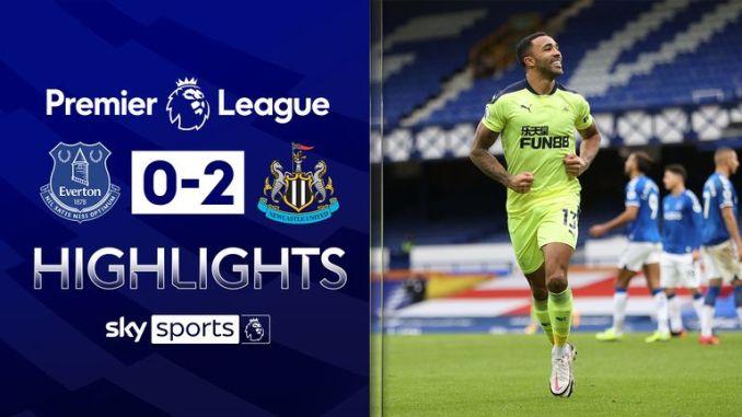 Everton 0-2 Newcastle: Callum Wilson's double eases pressure on manager Steve Bruce