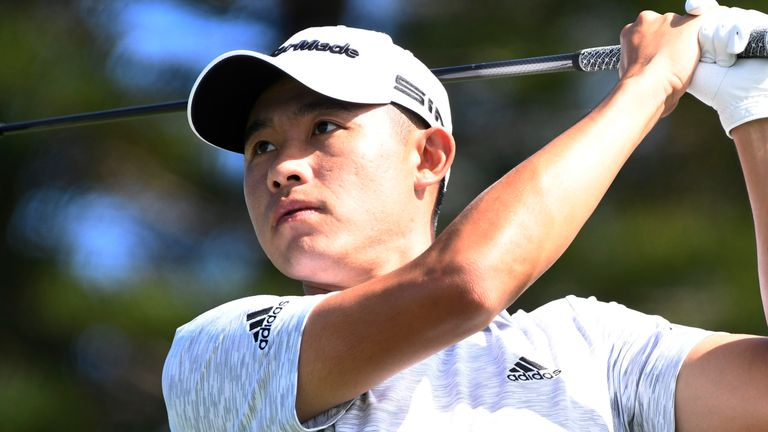 Collin Morikawa fired a 65 to leap into a share of second