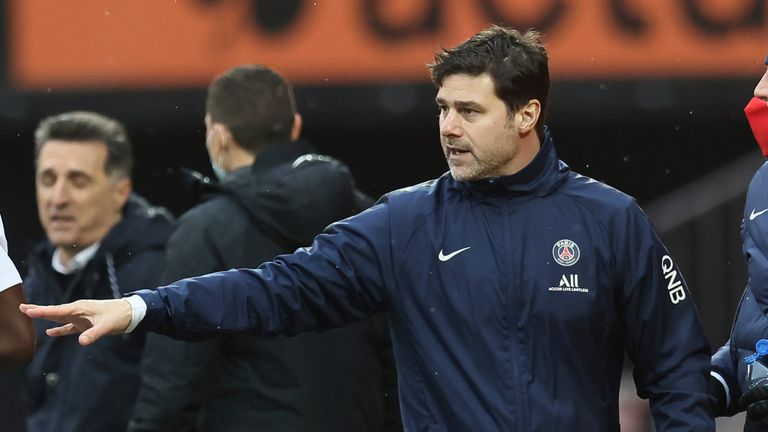 Mauricio Pochettino suffered his first defeat as PSG manager at Lorient