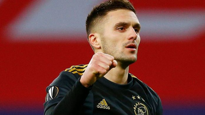 Dusan Tadic equalised from the penalty spot for Ajax