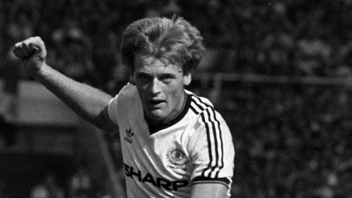 Manchester United defender Gordon McQueen in action