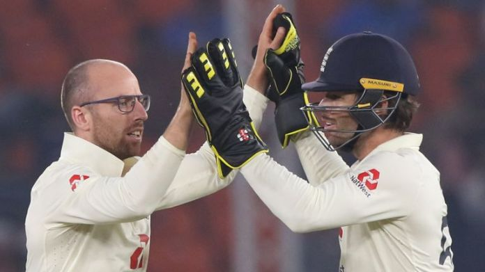 Jack Leach removed both Cheteshwar Pujara and Virat Kohli (Pic credit - BCCI)