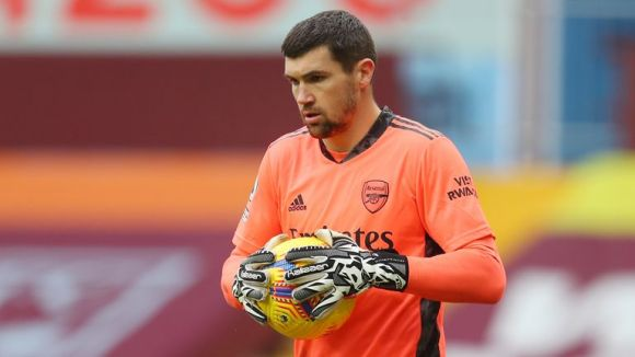 Mathew Ryan during the Premier League match between Aston Villa and Arsenal (AP)