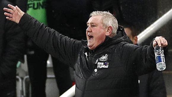 Newcastle manager Steve Bruce during the match against Southampton