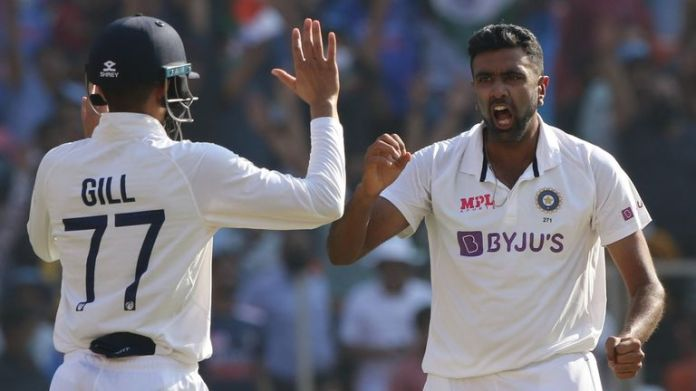 Ashwin passed 400 wickets in just his 77th Test for India (Pic credit - BCCI)
