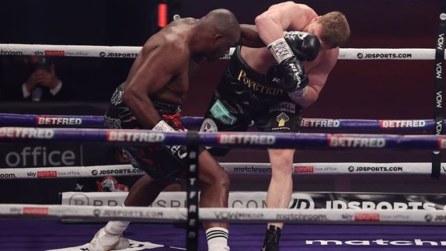 *** FREE FOR EDITORIAL USE ***.Alexander Povetkin v Dillian Whyte,  Interim WBC Heavyweight World Title..27 March 2021.Picture By Mark Robinson Matchroom Boxing.