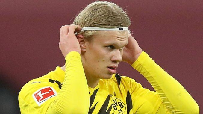 Erling Haaland scored his 19th goal of the Bundesliga season against Bayern Munich on Saturday